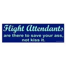 Flight Attendants Bumper Sticker