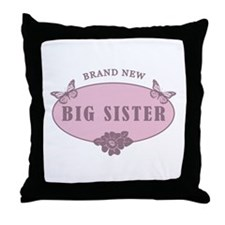 Brand New Big Sister Throw Pillow