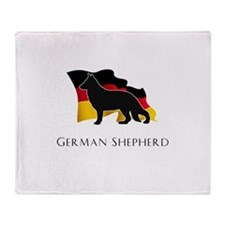 """German"" Shepherd Throw Blanket"