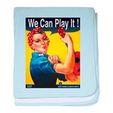 We Can Play It! baby blanket