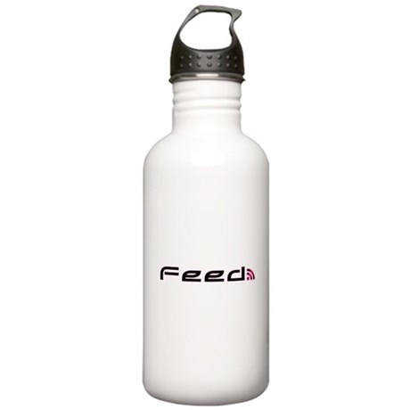 Pink RSS Feed Stainless Water Bottle 1.0L
