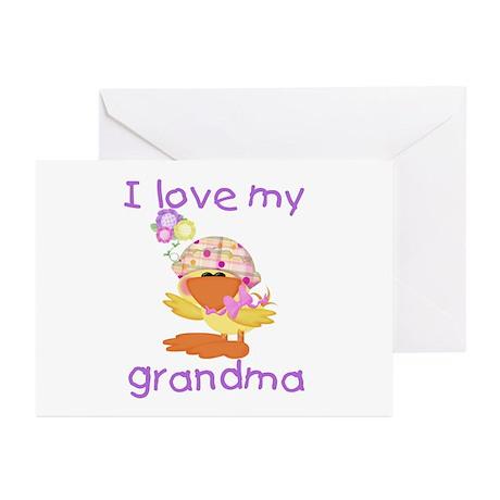I love my grandma (baby girl ducky) Greeting Cards
