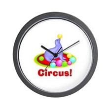Circus Seal 1 Wall Clock