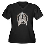 Vintage Starfleet Badge Women's Plus Size V-Neck D