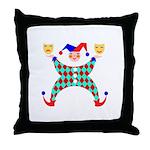 Jester Clown Throw Pillow