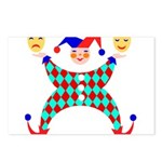 Jester Clown Postcards (Package of 8)