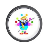 Juggling Clown Wall Clock