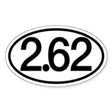 2.62 Marathon Humor Decal