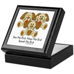 No Evil Puppies Keepsake Box