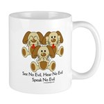 No Evil Puppies Mug