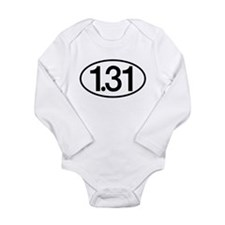 1.31 Half Marathon Humor Long Sleeve Infant Bodysu