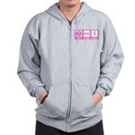 Eat Sleep Walk Zip Hoodie