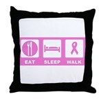 Eat Sleep Walk Throw Pillow