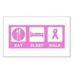 Eat Sleep Walk Sticker (Rectangle 50 pk)
