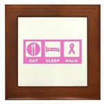 Eat Sleep Walk Framed Tile