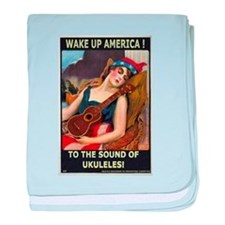 Wake Up America! baby blanket