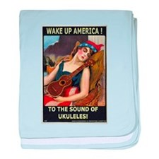 Wake Up America! baby blanket