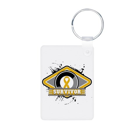 Appendix Cancer Survivor Aluminum Photo Keychain