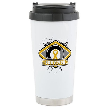 Appendix Cancer Survivor Ceramic Travel Mug