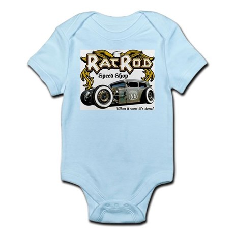 Rat Rod Speed Shop 66 Infant Bodysuit