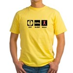 Eat Sleep Walk Yellow T-Shirt