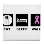Eat Sleep Walk Tile Coaster