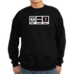 Eat Sleep Walk Sweatshirt (dark)
