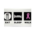 Eat Sleep Walk Rectangle Magnet (100 pack)