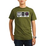 Eat Sleep Walk Organic Men's T-Shirt (dark)