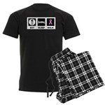 Eat Sleep Walk Men's Dark Pajamas