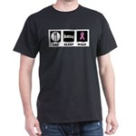 Eat Sleep Walk Dark T-Shirt