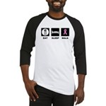 Eat Sleep Walk Baseball Jersey