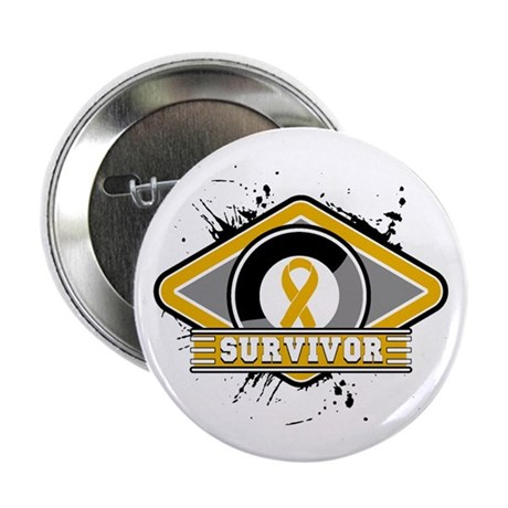 "Appendix Cancer Survivor 2.25"" Button"
