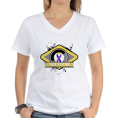 Bladder Cancer Survivor Women's V-Neck T-Shirt