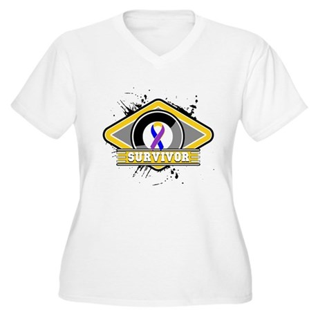 Bladder Cancer Survivor Women's Plus Size V-Neck T