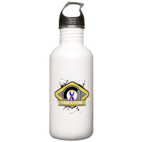 Bladder Cancer Survivor Stainless Water Bottle 1.0