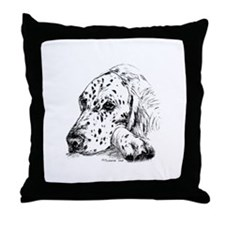 English Setter Throw Pillow