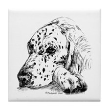 English Setter Tile Coaster