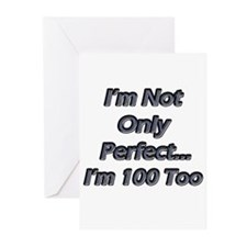 Unique 100 years old birthday Greeting Cards (Pk of 10)