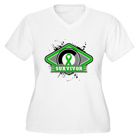 Bile Duct Cancer Survivor Women's Plus Size V-Neck
