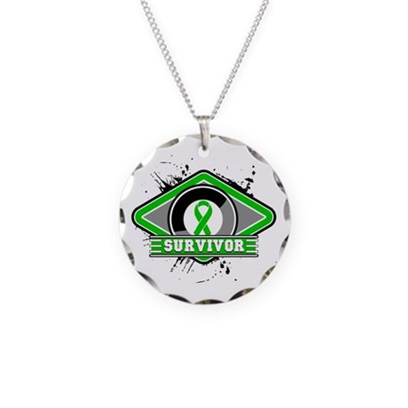 Bile Duct Cancer Survivor Necklace Circle Charm