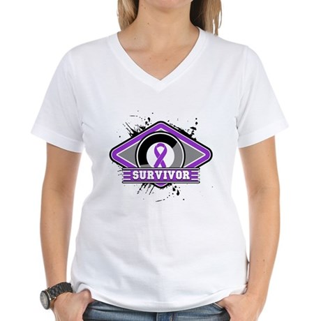 Leiomyosarcoma Survivor Women's V-Neck T-Shirt