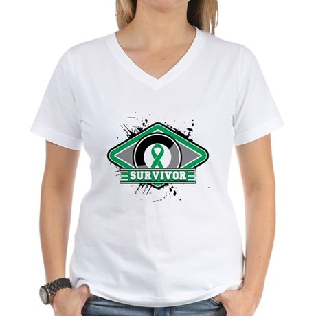 Liver Cancer Survivor Women's V-Neck T-Shirt