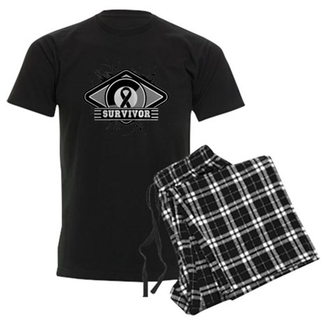 Melanoma Survivor Men's Dark Pajamas