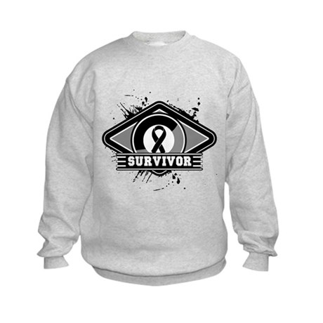 Melanoma Survivor Kids Sweatshirt