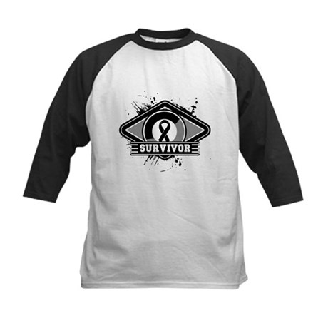 Melanoma Survivor Kids Baseball Jersey