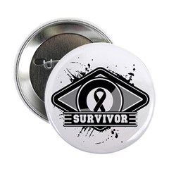 Melanoma Survivor 2.25&quot; Button (100 pack)