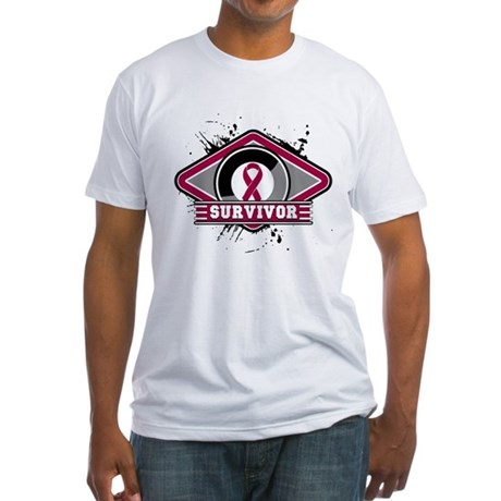 Multiple Myeloma Survivor Fitted T-Shirt