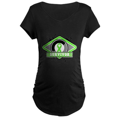Non-Hodgkin's Lymphoma Maternity Dark T-Shirt