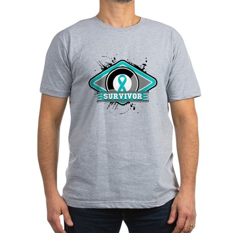 Ovarian Cancer Survivor Men's Fitted T-Shirt (dark